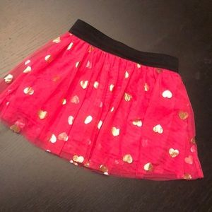 Epic Threads Skater Skirt Hot Pink Gold Hearts 4T